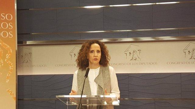 Pilar Lucio (PSOE), en el Congreso
