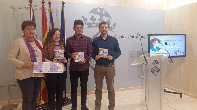 Presentación del programa por el día de la mujer en Palma