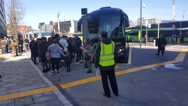 Estación provisional de autobuses en Bilbao