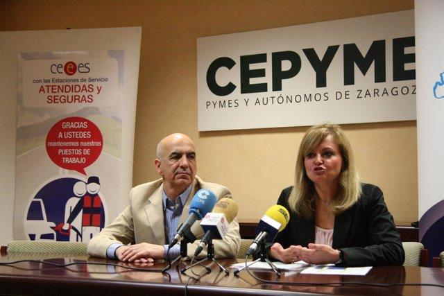 Zoilo Ríos y Pilar Soto este jueves en la rueda de prensa.