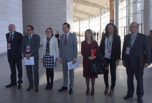 Los consellers de Territorio de Cataluña, Baleares y la Comunitat en el foro