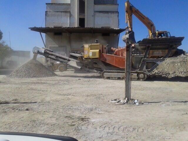 Trituradora de escombros.