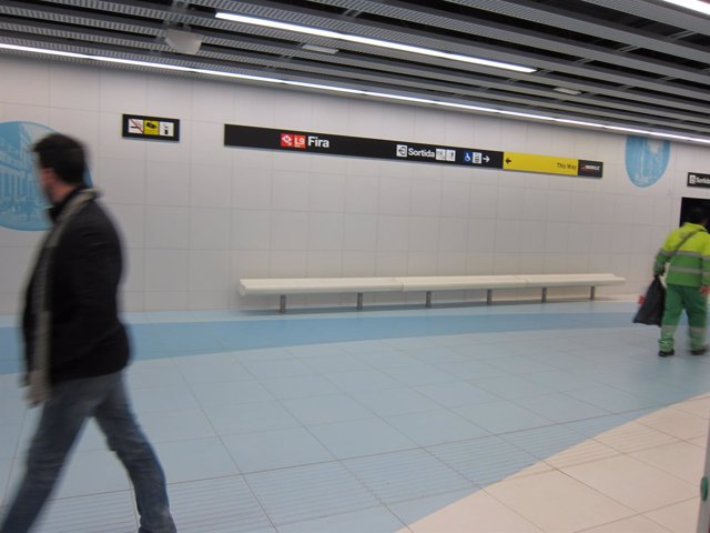 Estación Fira de la L9 Sud del Metro de Barcelona