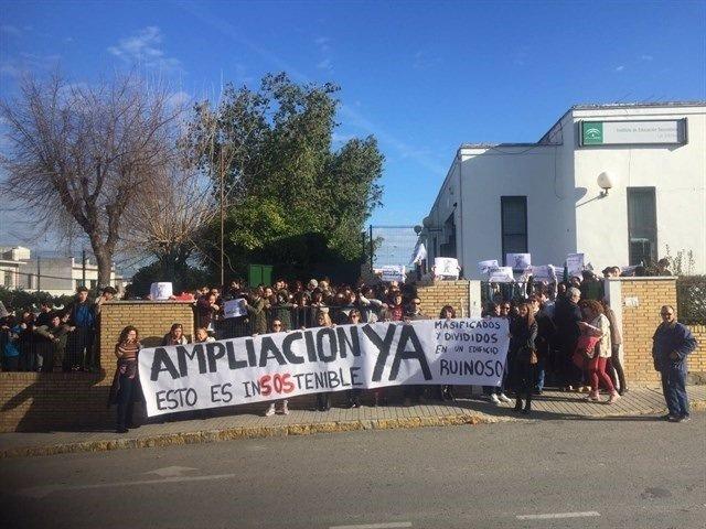 Protesta del IES Las Encinas.