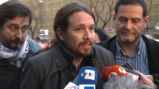 El Secretario General De Podemos, Pablo Iglesias,