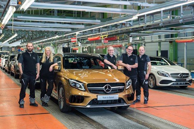 Producción del Mercedes-Benz GLA en Rastatt (Alemania)