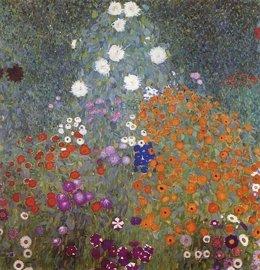 Jardín de flores, por Gustav Klimt