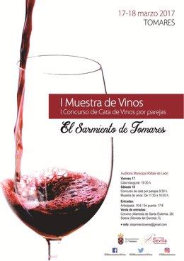 Cartel de la I Muestra de Vinos.
