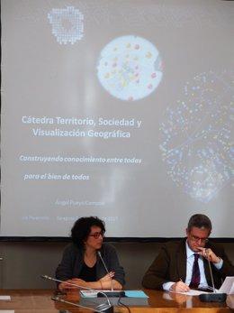 Reunión de la Cátedra de Territorio, Sociedad y Visualización Geográfica.