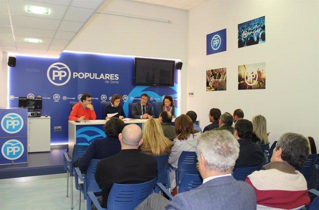 Junta Directiva del PP de Soria, a favor de la 'macrogranja'.