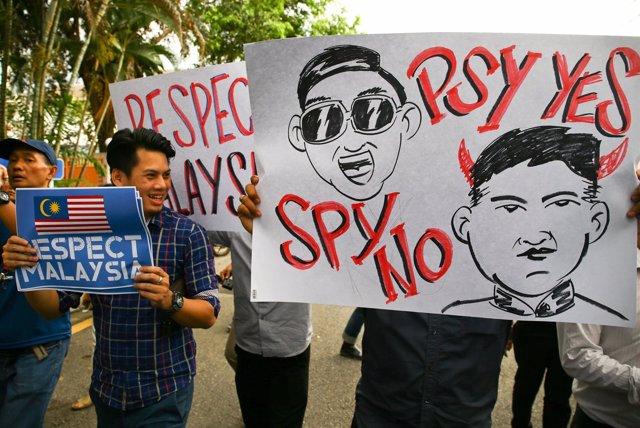 Protesta asesinato Kim Jong Nam, hermanastro líder Corea del Norte