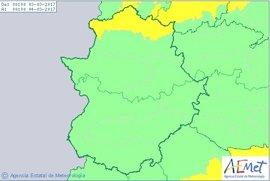 El norte de la provincia de Cáceres, en aviso amarillo este viernes por viento y nieve