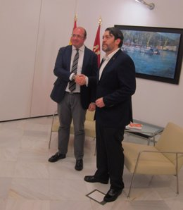 Reunión Pedro Antonio Sánchez y Miguel Sánchez en Palacio Aguirre