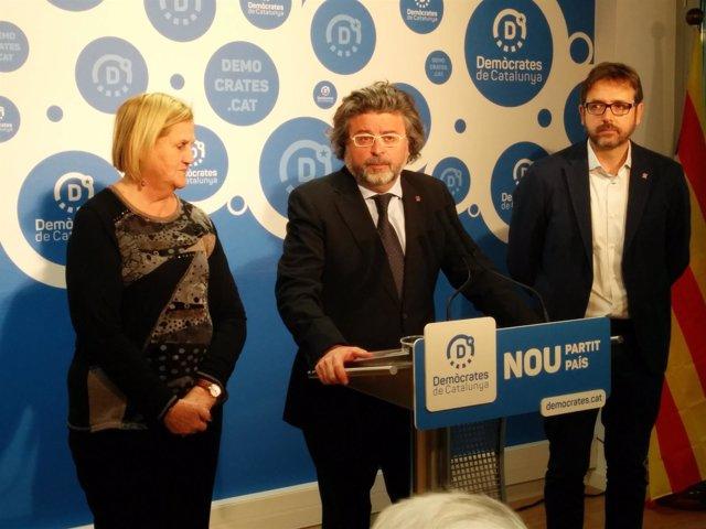 Núria de Gispert, Antoni Castellà, Carles Prats (Demòcrates)