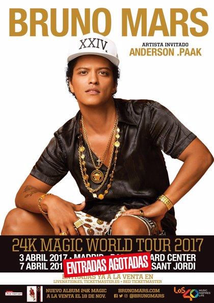 Los fans de Bruno Mars preparan sorpresas para sus conciertos en Madrid y Barcelona