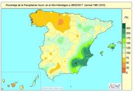 La falta de lluvias acumulada desde octubre aumenta esta semana hasta el 9 por ciento