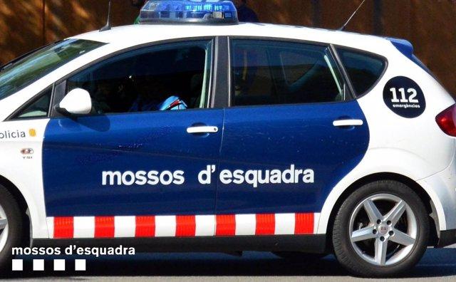 Un coche patrulla de Mossos d'Esquadra