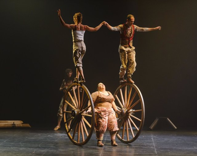 Obra de circo 'Pals' de la compañía Cíclicus