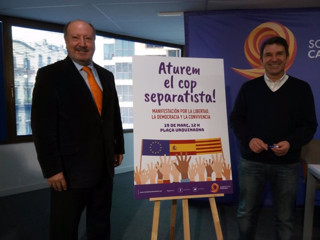 El presidente de SCC, Mariano Gomà, y el vicepresidente, José Domingo