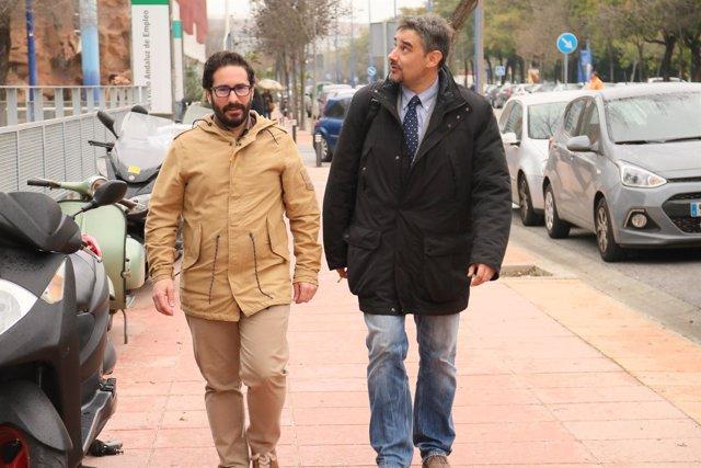 Los diputados de Podemos Andalucía David Moscoso y Juan Ignacio Moreno Yagüe