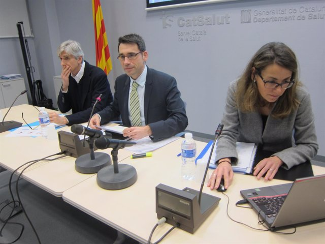 Josep Maria Argimon, David Elvira y Cristina Nadal