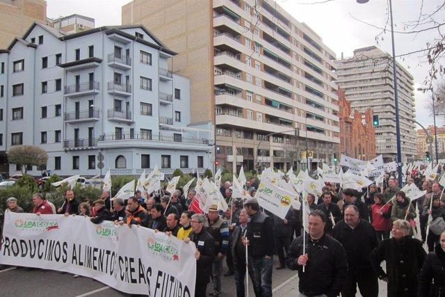 Agricultores y ganaderos se manifiestan en Valladolid