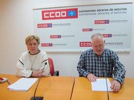 CCOO destaca que la brecha salarial en Asturias alcanza los 6.099 euros