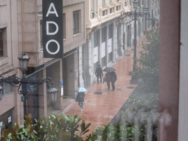 Lluvia, Oviedo, tiempo, nubes, temporal, tempestad.