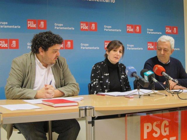 Los diputados del PSdeG en rueda de prensa
