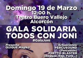 Organizan en Alcorcón una gala solidaria a favor de un chico con diversidad funcional del 90%