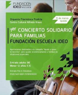 Primer concierto solidario para familias Fundación Escuela Ideo