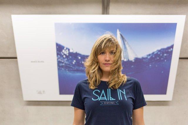 María Muiña durante la presentación de la exposición fotográfica de su archivo S