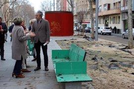 """El PP critica el """"abandono"""" de los parterres y el mobiliario del bulevar de Gran Vía"""