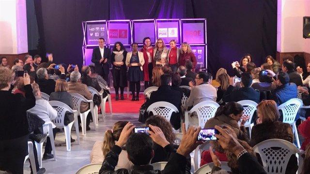 Acto del PSOE por el Día de la Mujer en Gibraleón (Huelva).