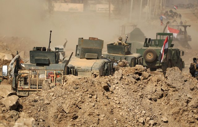 Fuerzas iraquíes en Mosul
