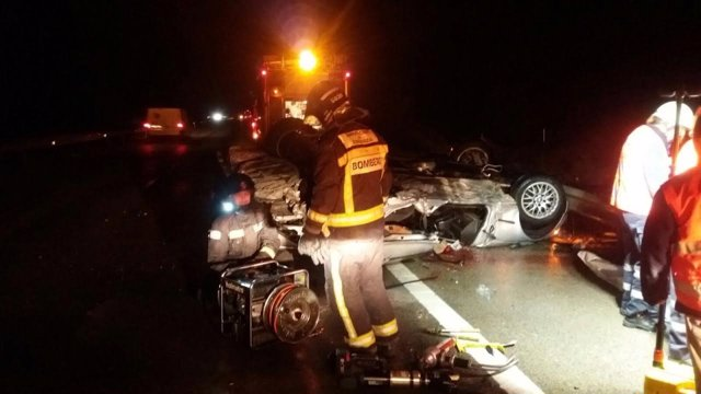 Accidente de tráfico en la A23.
