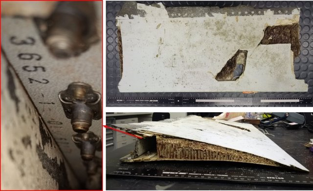 Uno de los restos del vuelo MH370 de Malaysia Airlines