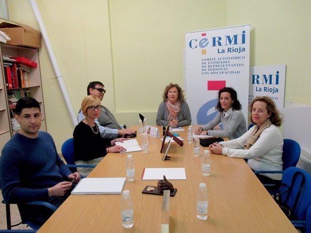 Reunión del CERMI con la diputada riojana, Mar Cotelo