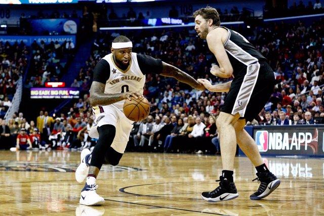 Pau Gasol San Antonio Spurs New Orleans Pelicans DeMarcus Cousins
