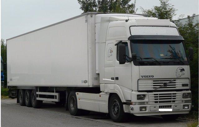 El camión interceptado