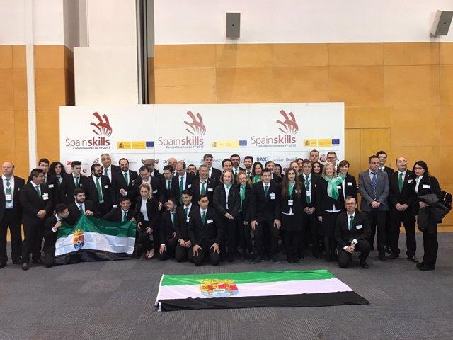 Delegación extremeña en 'Spainskills'