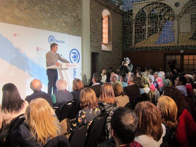 Alberto Núñez Feijóo en un acto del PPdeG sobre Igualdad