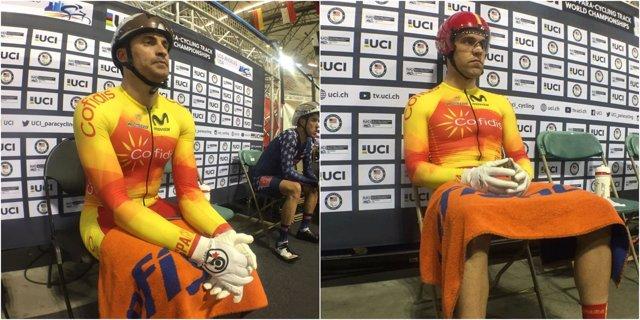 Pablo Jaramillo Eduardo Santas ciclismo pista paralímpico Mundial