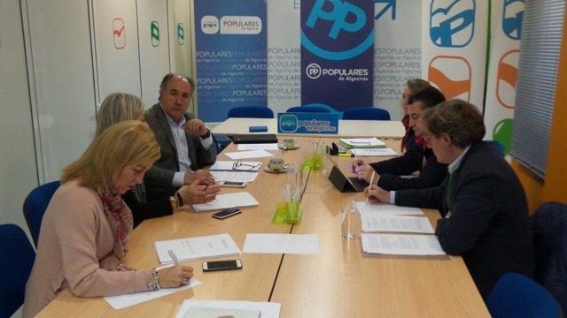 Reunión de trabajo del PP en Algeciras (Cádiz)