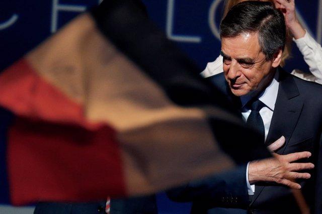 El candidato presidencial conservador, François Fillon