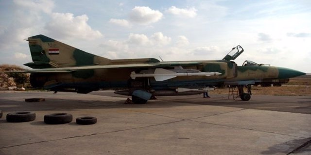 Un caza MiG-23 sirio