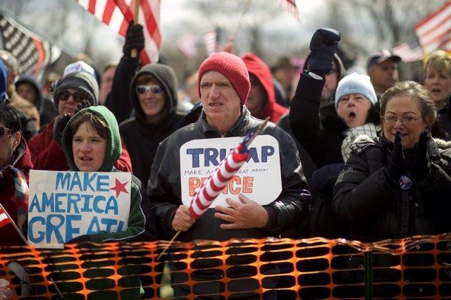 Simpatizantes del presidente estadounidense, Donald Trump
