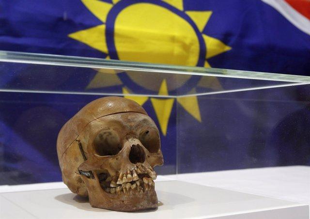 Cráneo de herero expuesto en Alemania