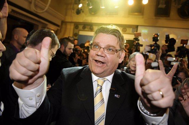Timo Soini, Líder Del Partido De Los Verdaderos Finlandeses
