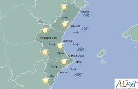 Suben las máximas hasta los 25 grados en València, 22 en Alicante y 20 en Castellón